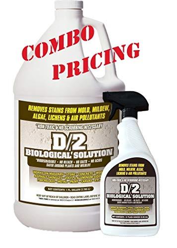D2 Biological Solution 1 Gallon / (1) 32 oz Quart Spray Bottle Combo Pack -  D/2 Biological Solution, INC, B01JYBOJRU