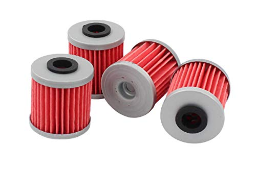 (Pack of 4 Oil Filter for Kawasaki KX250 KX250F KX450F RMX450Z RMZ250 RMZ450 Beta EVO 250 300 )