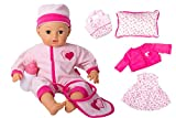 "16"" Soft Body Baby Doll with Gray Eyes Girl's Gift Toy Set"