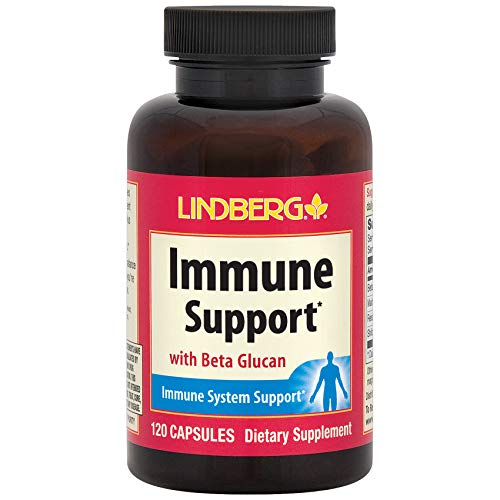Lindberg Immune Support with Beta Glucan and Adaptogenic Mushroom Extracts (120 Capsules)