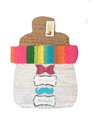 APINATA4U Large Gender Baby Bottle Gender Reveal Pinata Muchacho Muchacha Fiesta Gender Reveal -