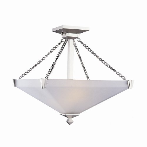 DVI DVP7611ORB 2 Light Aurora Square Bowl Semi Flush Ceiling