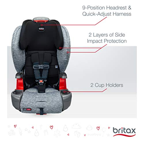 Britax Grow with You ClickTight Harness-2-Booster Car Seat - 2 Layer Impact Protection - 25 to 120 pounds, Spark [Newer Version of Frontier]