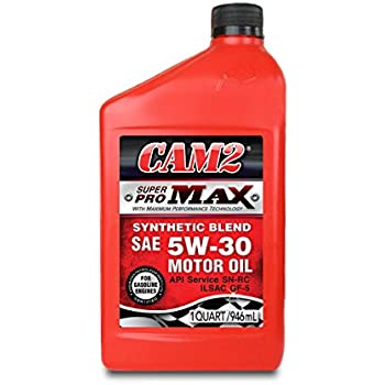 CAM2 80565-40912-12PK Super Pro Max 5W-30 Synthetic Blend Motor Oil - 1 Quart, (Pack of 12)