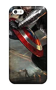 New Style For Iphone 5/5s Tpu Phone Case Cover(captain America The Winter Soldier Artwork) 1734210K39280882
