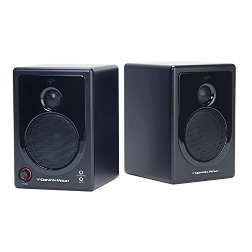 Cerwin Vega 2.0 Powered Desktop Speaker (2-Piece) Black XD3
