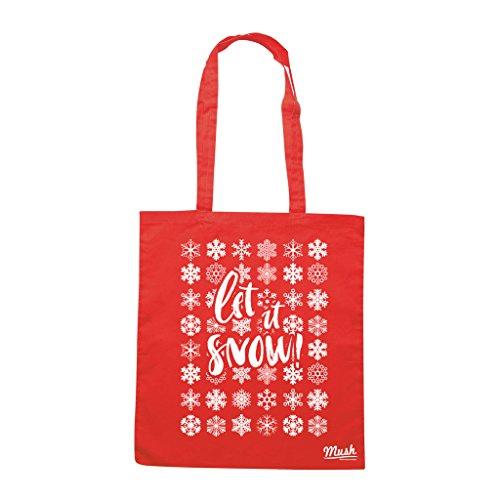 Borsa LET IT SNOW NATALE - Rossa - MUSH by Mush Dress Your Style