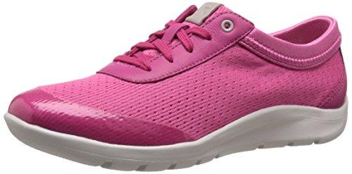 walk Zero Moreza Lace Up Fashion Sneaker, Dark Fuchsia Washable, 10 M US (Rockport Washable)