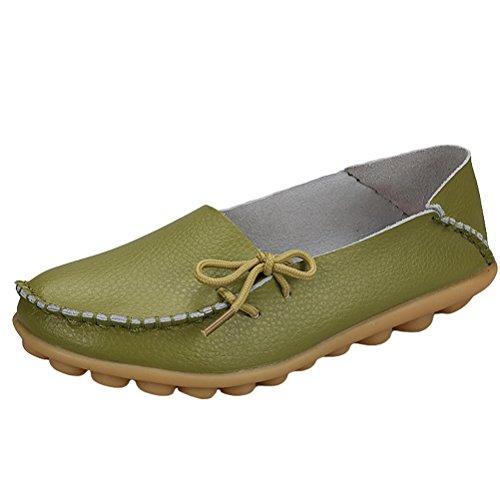 para Bailarinas de mujer verde Piel MatchLife hierba CpRZwxOqCz