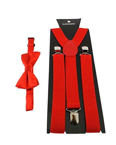 Zac/'s Alter Ego® Men/'s Matching Skull /& Crossbones Suspenders /& Pre-Tied Bow Tie