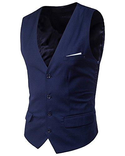 Habituelle Veste Boutons Bleu Avec Gilet Des V Cihui Business Homme Col Marin nRwFqTwxzA