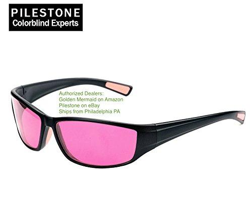 Pilestone TP-016 Color Blind Corrective Glasses for Red-Green Blindness (Color Blind Glasses)-- Streamline Sports - Glasses Corrective