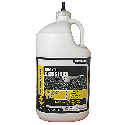 Blacktop Crack Filler, 1 gal, Can, Black