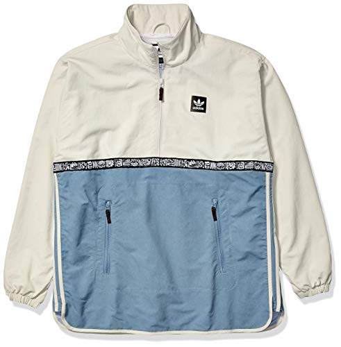 - adidas Originals Men's Dakari Windbreaker, White/raw Green, Large