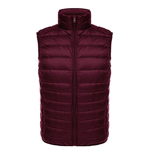 Vest Pahajim Week Slim Size Collar Down New Large Autumn Sale Short Clearance Vest Light Men's Red Deals Jacket Day and Jacket Men's Down Prime Collar Winter rftTFf
