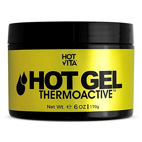 Hot Vita Hot Gel ThermoActive - Workout Enhancer Sweat Cream with Coconut oil, Jojoba Seed Oil, Coffee Arabica Seed Extract, Olive Oil and Green Tea Leaf Extract for Women (6 Ounce)