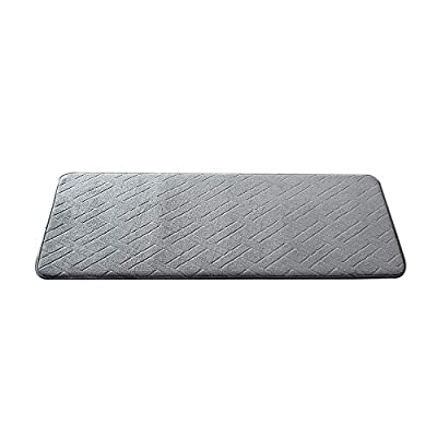 "KoKoBin Bath Mat Non Slip Large Size Absorbent Super Cozy Velvet Soft Bathroom Rug Carpet Maximum Absorbent 17.7"" X 47.2"", Grey - Soft Material: The bath mat is filled with outer material super soft coral velvet. It provides a comfortable touch with your feet. Non Slip Design: The bath mat is backed with PVC dots to prevent skidding, a sweet care for you and your family. Large Size 17.7"" X 47.2"" is suitable for many occasions. Various sizes and colors are provided for you to choose. - bathroom-linens, bathroom, bath-mats - 41mQL6vjKXL. SS400  -"