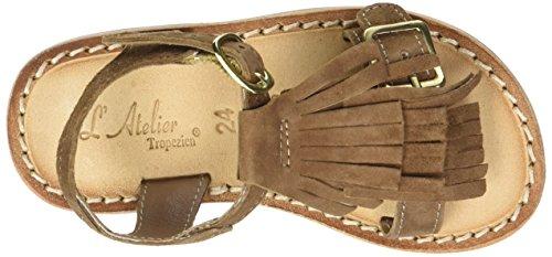 L'ATELIER TROPEZIEN Sandales Triple Franges - Zapatos de primeros pasos Bebé-Niños marrón (tan)