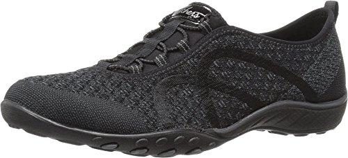 Skechers Sport Women's Breathe Easy Fortune Fashion Sneaker,Charcoal Knit,8 M US