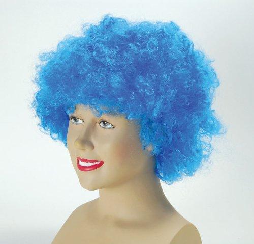 Economy Pop /Afro /Clown Wig Blue - Royal Fancy Dress ()