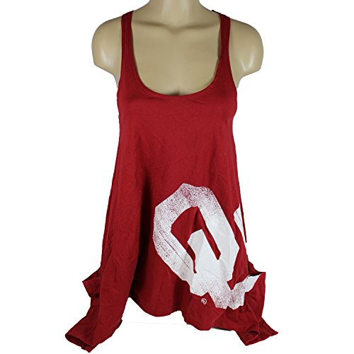 Oklahoma Sooners Official NCAA Tank Dress W/ Handkerchief Hem And Large Logo Flare M by Glitter Gear