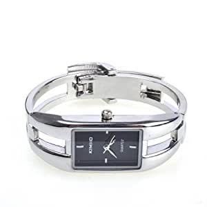 NEEWER® Alloy Case Bracelet Black Dial Modern Silver Fashion Women Quartz Watches