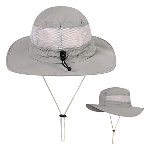 Unisex Sun Hat Fishing Boonie Cap Wide Brim Safari Hat Adjustable Drawstring Under 5 Dollars Hats for Women Baseball caps