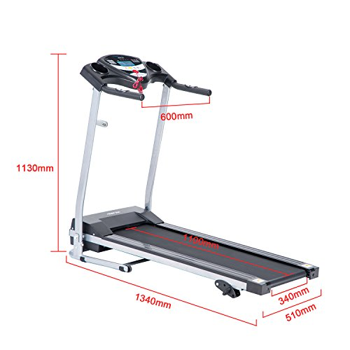 Merax JK1603 Easy Assembly Folding Electric Treadmill Motorized Running Machine
