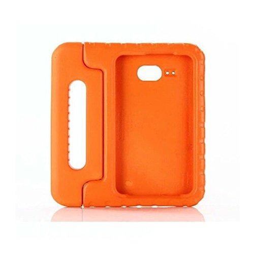 Tutoy Kinder Schocksicher Eva Harz Griff Stand Gehäuseabdeckung Für Samsung J7 T280/T285 7 Inch - Schwarz Orange FIwtd