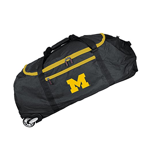 NCAA Michigan Wolverines Crusader Collapsible Duffel, 36-inches (Gym Wolverines Michigan Bag)