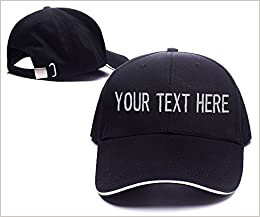 KYUAN Custom Design Your Own Text Logo Baseball Hat Embroidery Snapback Cap  at Amazon Men s Clothing store  b1b3e38c773