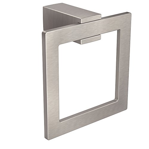 Collection Towel Ring - Moen BP3786BN Kyvos Collection Modern Bathroom Hand Towel Ring, Brushed Nickel