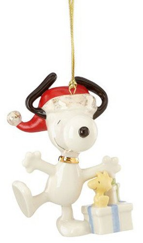 lenox christmas morning snoopy ornament - Lenox Christmas Decorations