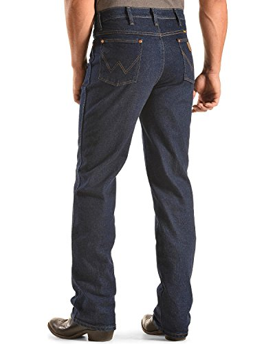 Wrangler Men's Western Traditional Boot Cut Slim Jean,Navy Stretch,36x32