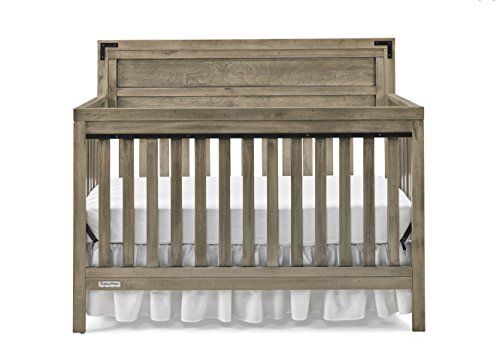 Fisher-Price Paxton 4-in-1 Convertible Crib, Vintage Grey ()