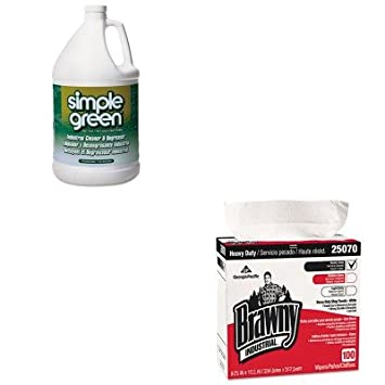 kitgep25070ctspg13005ct - Value Kit - Georgia Pacífico Brawny Industrial resistente tienda toallas (gep25070ct) y Simple verde multiusos industrial ...