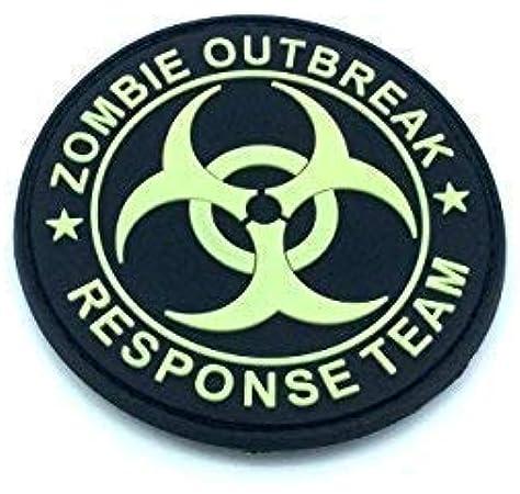 Zombie Outbreak Response Team brilla en la oscuridad Airsoft PVC Parche: Amazon.es: Deportes y aire libre