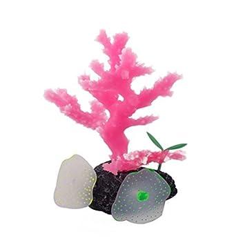 La planta del árbol fluorescente DealMux silicona peces de acuario tanque artificial ornamento Coral: Amazon.es: Productos para mascotas