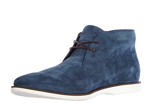 Hogan polacchine stivaletti scarpe uomo camoscio y h 262 corda blu