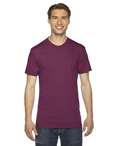 American Apparel TR401W Unisex Triblend Short-Sleeve Track T-Shirt Tri Cranberry XS