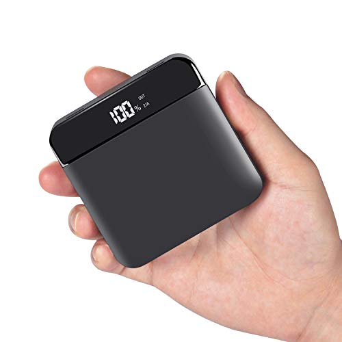Power Bank Portable Charger - 20000mAh High Capacity with Digital Display LED Screen 2 USB Output & Dual Input External Battery Pack Compatible with All The Phone