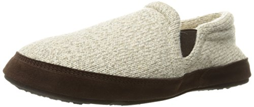 Gore Loafers (ACORN Men's Fave Gore Slip-On Loafer, Grey Ragg Wool, Large/10.5-11.5 D(M) US)