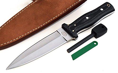 CFK Cutlery Company USA Custom Handmade D2 PERSONAL-DEFENSE Large Pugio Dagger Black Micarta Knife  Fire-Starter Rod Set CFK157