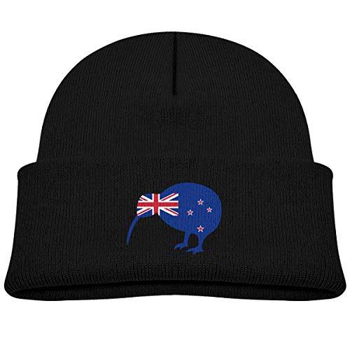Kid's Beanie New Zealand Kiwi Bird Cuffed Knit Hat Skull ()