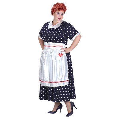 I Love Lucy Polka Dot Costume (Plus Size I Love Lucy Costume)