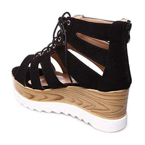 La Modeuse - Sandalias de vestir para mujer negro