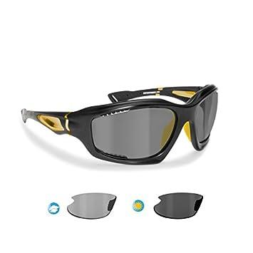 BERTONI Gafas de Sol Deportivas Polarizadas Fotocromáticas para Deporte Ciclismo MTB Pesca Esqui Golf Running Kitesurf - P1000FT Italy