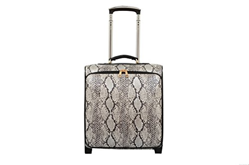 Mellow World Fashion Rogue Carry-on Rolling Suitcase, Black