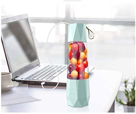 zyl Presse-Agrumes électrique Portable Mini ménage Multifonction Rechargeable Petite Tasse de jus de friture Tasse d'eau jus Double Bleu