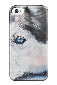 New IjbyVax7608KbpWh Siberian Husky Dog Skin Case Cover Shatterproof Case For Iphone 4/4s